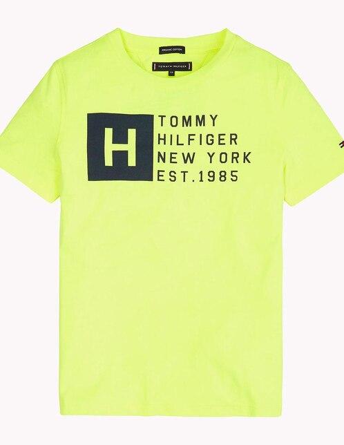 cf3d80873a066 Playera lisa Tommy Hilfiger algodón para niño