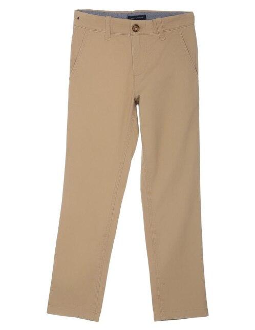 1e7f7ed486e Pantalón liso Tommy Hilfiger algodón para niño