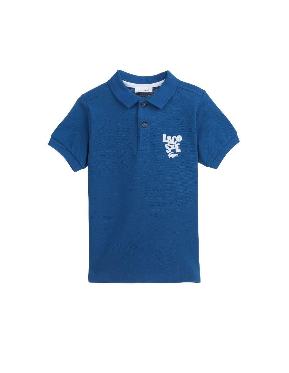 Playera tipo polo lisa Lacoste de algodón para niño 6dd5c3f378296