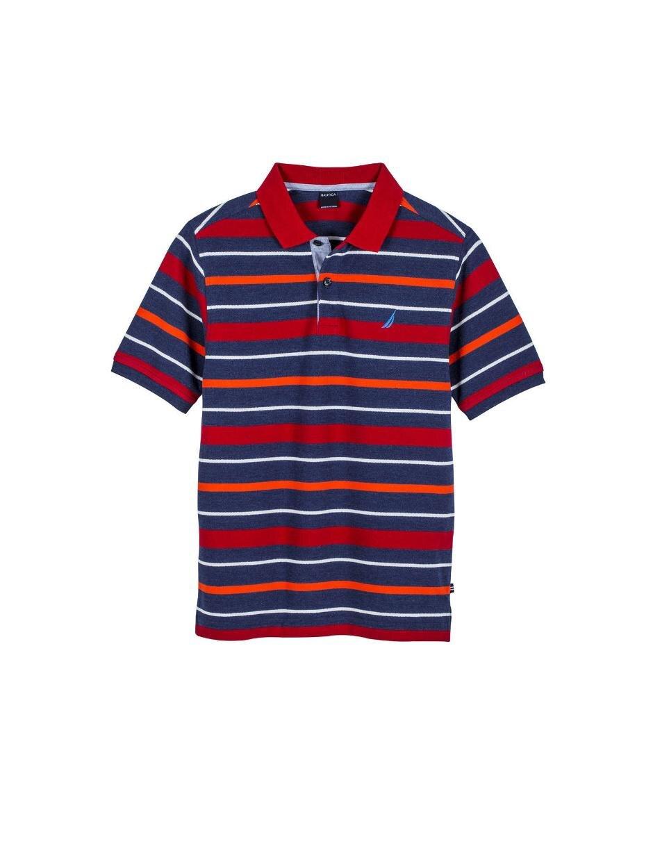 8b56750c0dbab Playera tipo polo a rayas Nautica de algodón para niño