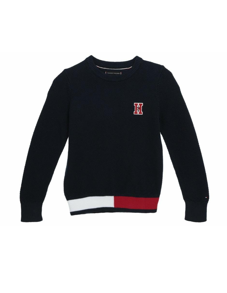 57d4242155d Suéter tejido Tommy Hilfiger algodón para niño