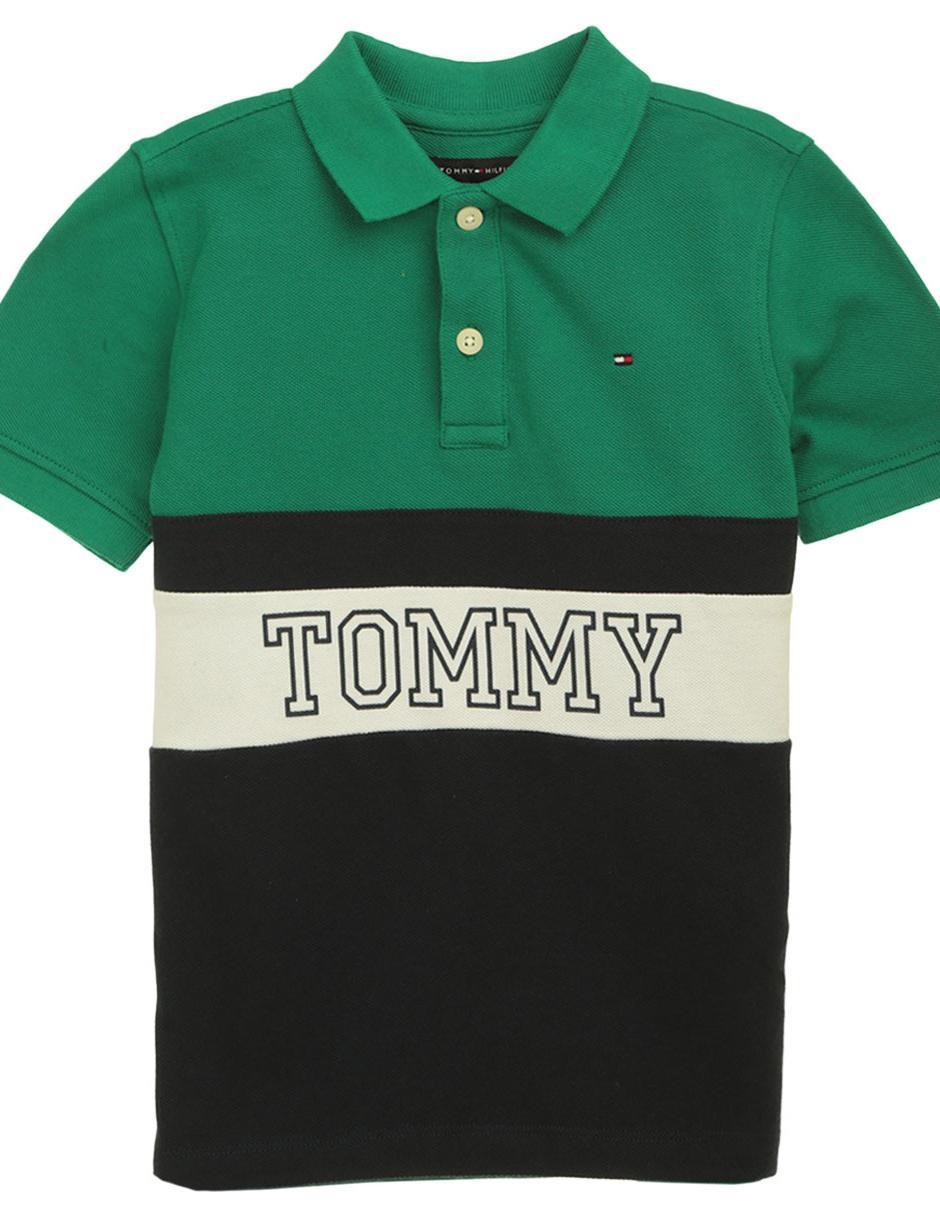 9f0c51cd85b Playera tipo polo Tommy Hilfiger algodón para niño