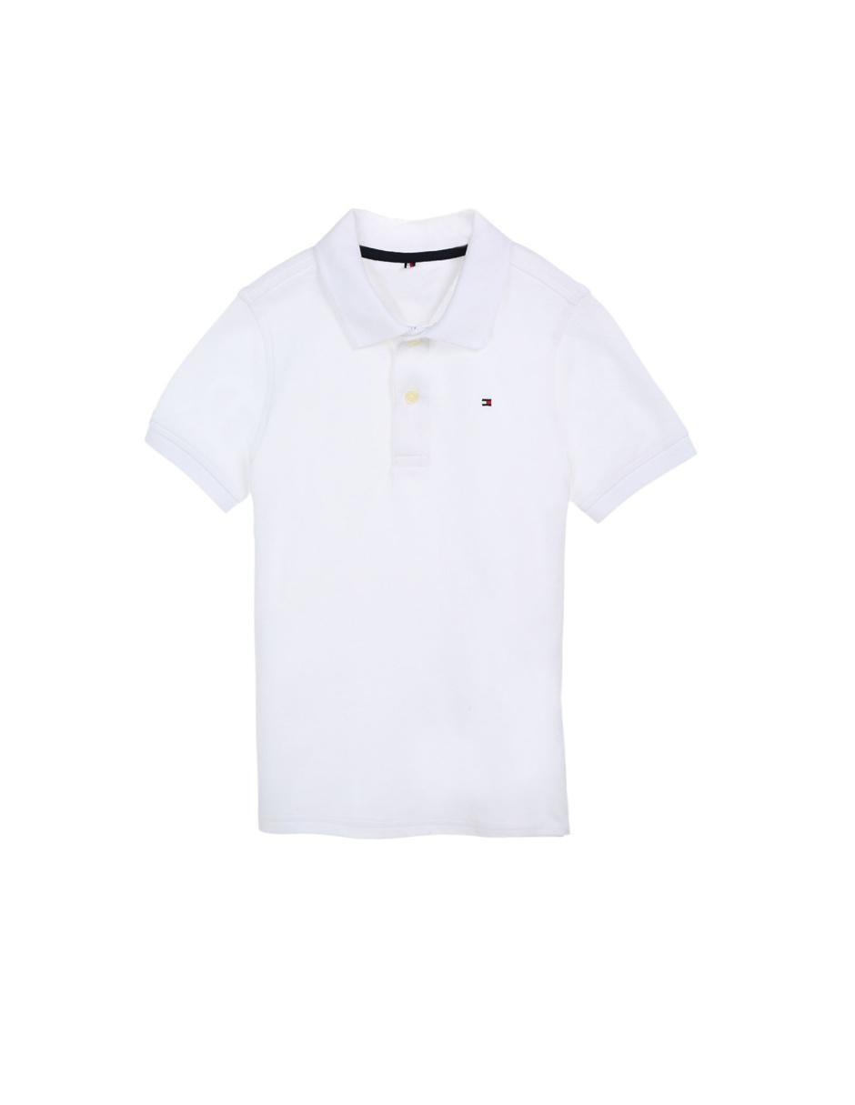 39d52537400a3 Playera tipo polo lisa Tommy Hilfiger de algodón para niño
