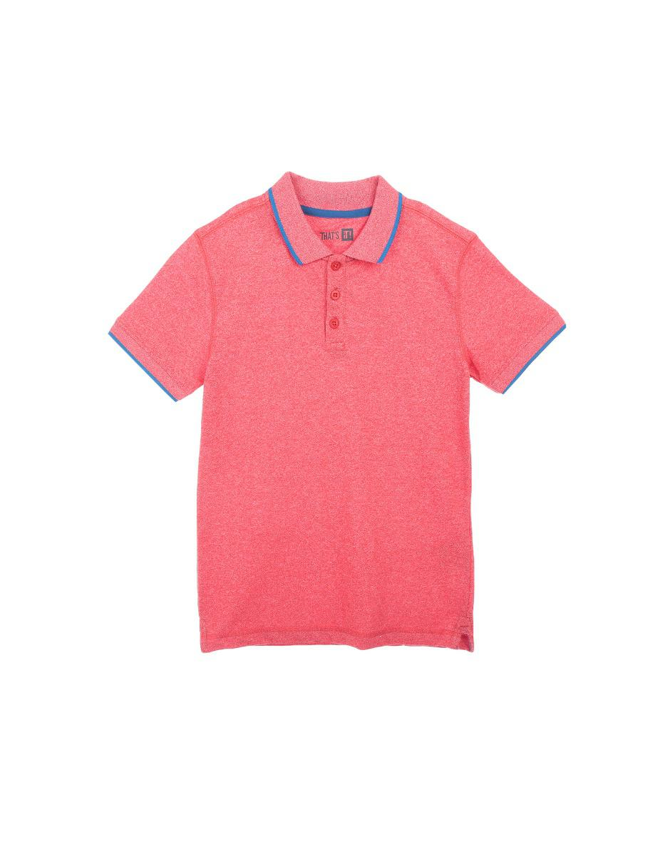 1ec9064d3746b Playera tipo polo jaspeada That s It algodón para niño