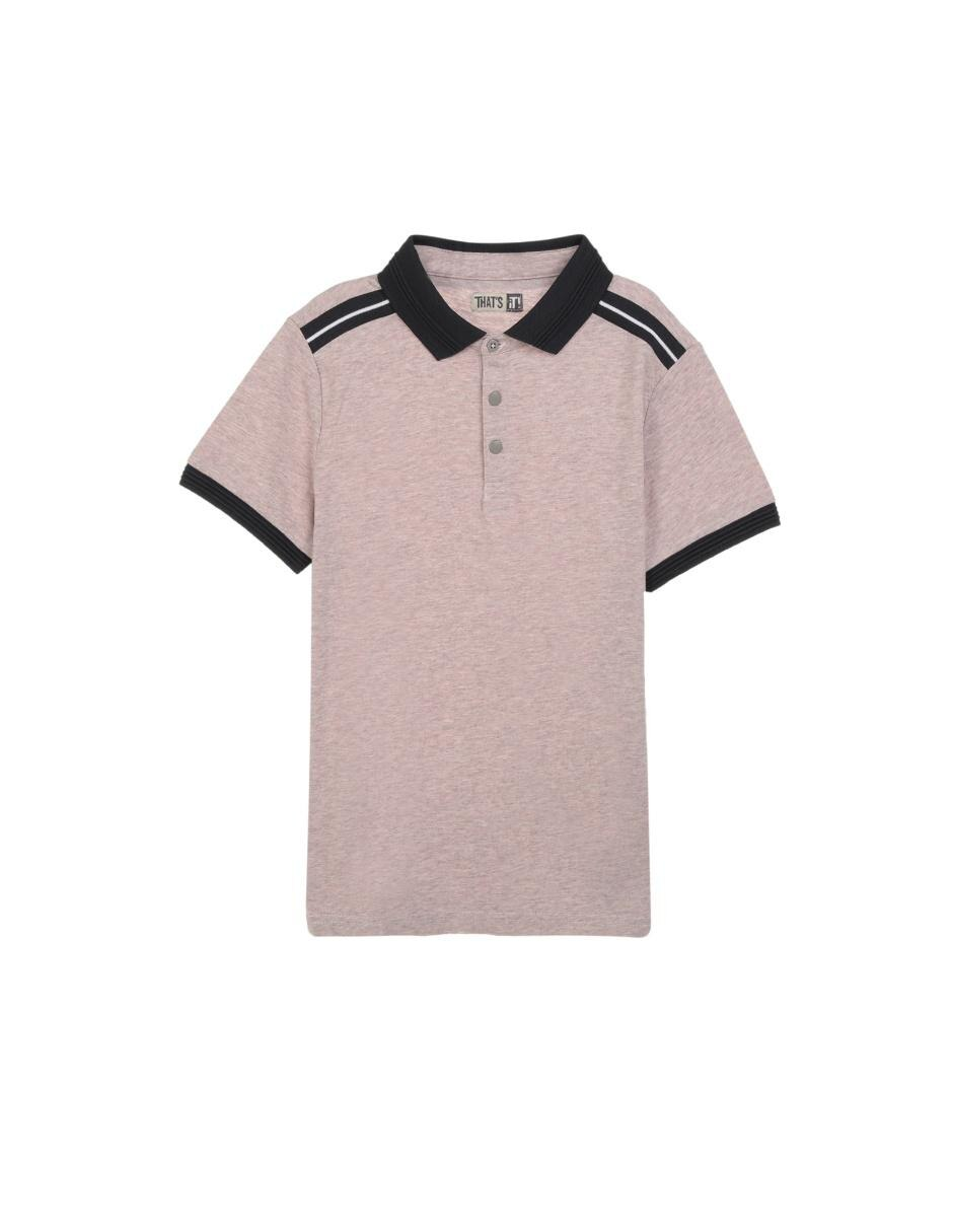 bd0c8143e682e Playera tipo polo jaspeada That s It algodón para niño